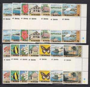 Kiribati 327-40 gutter pairs mnh