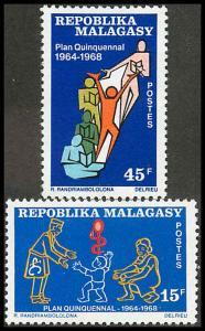 Malagasy Republic 420-421 Mint VF H