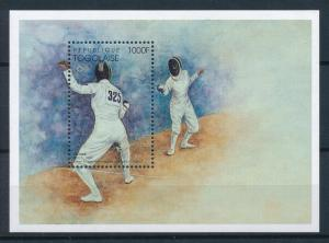 [75429] Togo 1996 Olympic Games Atlanta Fencing Souvenir Sheet MNH