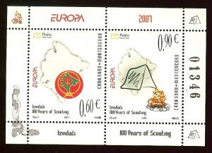 Montenegro Europa Cept 2007 Scouting s/s MNH