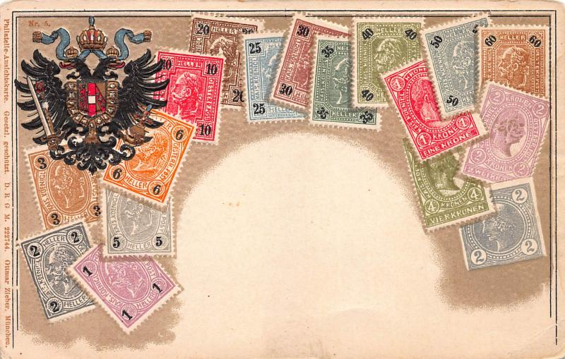 Austria, Stamp Postcard, Published by Ottmar Zieher, Circa 1905-10, Unused