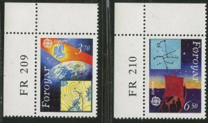 FAROE IS. Sc#220-221 1991 EUROPA Satellites Complete Mint OG NH