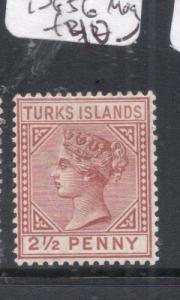 Turks Island QV SG 56 MOG (9dmk)