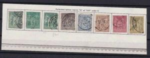 FRANCE 1876,  N OF INV UNDER U  IN REPUBLIQUE TYPE  STAMPS,  CAT £490+  R3093