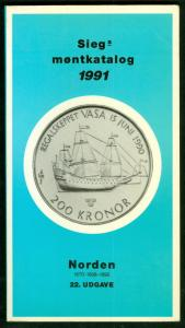 SIEG MONTKATALOG 1991 (COINS OF SCANDINAVIA) CATALOG