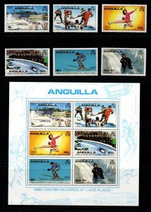 Anguilla - Scott # 375-80a VF Mint Never Hinged