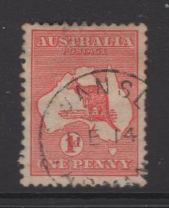 Australia 1913 Stamps 1d Kangaroo  & Map Scott 2 F