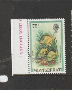 Montserrat 1981 Fish 75c Wmk Inverted UM Marginal SG 499w