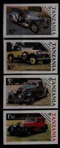Tanzania 263-66 MNH imperf. Cars, Specimen