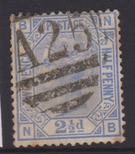 Great Britain Sc#82 Plate 22 Used in Malta - Postmarks A25