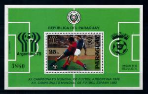 [72559] Paraguay 1979 World Cup Football Soccer Souvenir Sheet MNH