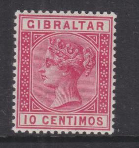 GIBRALTAR, 1889 10c. Carmine, mnh.