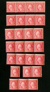 US Stamps # 492 AV/F Mint lot of 25 OG NH Scott Value $475.00