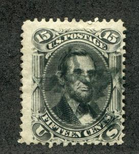 UNITED STATES (US) 77 USED, FINE, 15c LINCOLN, STAR CANCEL