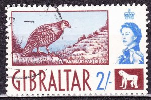 GIBRALTAR 1960 2/- Chocolate & Ultramarine SG170 Used