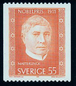 SWEDEN 909, Maurice Maeterlink, Nobel Prize winner, MNH.