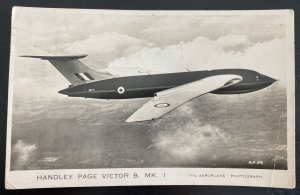1955 Port Talbot England RPPC Postcard Cover To Beeston Handley Page Airplane