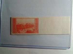 SCOTT # 764 NINE CENT GLACIER WITH SELVAGE NGAI  DESIRABLE MINT NEVER HINGED