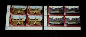 U.N. GENEVA #535-536, 2011, WORLD HERITAGE NORDIC, MNH, INSC. BLKS/4, LQQK!