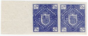 (I.B) Andorra Postal : Arms of The Republic 75c (die proof)
