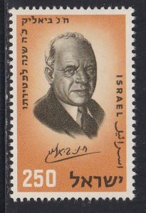 Israel # 155, Chaim Bialik, NH Single