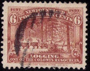 Newfoundland Sc 66 Red Brown Used VF