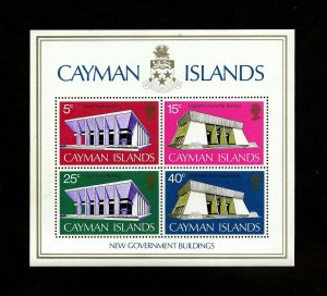 CAYMAN IS - 1972 - GEORGETOWN - COURTHOUSE - BUILDINGS - MINT - MNH S/SHEET