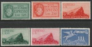 San Marino Sc E8-E14,E16 special delivery MH/MNG