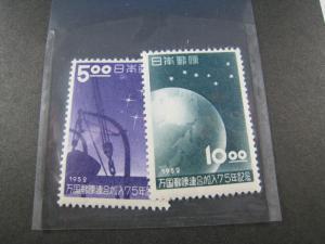 JAPAN  SCOTT #552-553  UPU   MH    (NS43)