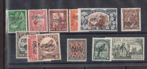 New Zealand #O61 - #O71 Extra Fine Never Hinged Set