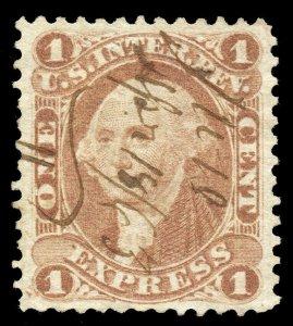 B379 U.S. Revenue Scott R1c 1c Express, 1863 manuscript cancel