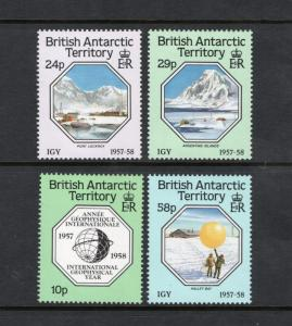 BRITISH ANTARCTIC TERRITORY Sc# 141 - 144  MNH FVF Set-4 IGY Globe