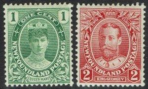 NEWFOUNDLAND 1911 CORONATION 1C AND 2C