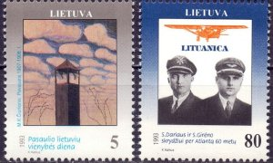 Lithuania. 1993. 529-30. Aviation. MNH.