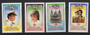 Central African Republic 467-470 1981 MNH