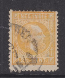 NETHERLANDS EAST INDIES, 1876 William, 12 1/2 x 12, 2 1/2c. Buff, used.