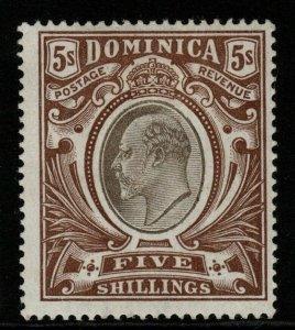DOMINICA SG36 1903 5/= BLACK & BROWN MTD MINT