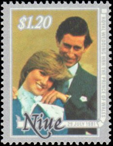 Niue #340-342, Complete Set(3), 1981, Royality, Never Hinged
