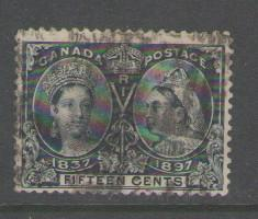 Canada Sc 58 1897 15c Victoria Jubilee stamp used