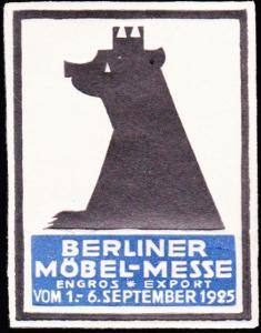 Germany  Berlin Furniture Trade Fair Label Mint never hinged.