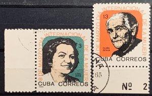 CUBA 1965 SC#942-943 INT. WOMEN'S DAY Mrch 8 Gutter Sniper PRE CANCEL