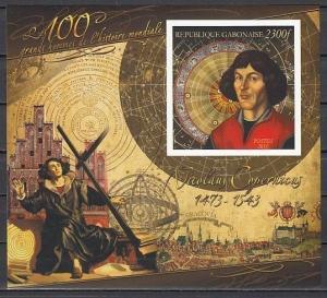 Gabon, 2011 issue. Nicolas Copernicus, IMPERF s/sheet. ^