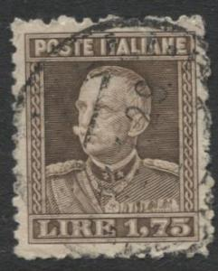 Italy - Scott 193 - Definitive Issue -1927 - Used - Single 1.75c Stamp