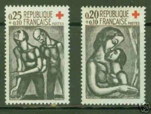 FRANCE Scott B356-7 MH* CV4.00$