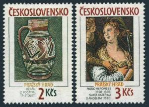 Czechoslovakia 2717-2718,MNH.Mi 2975-2976. Prague Castle 1988.Paolo Veronese.