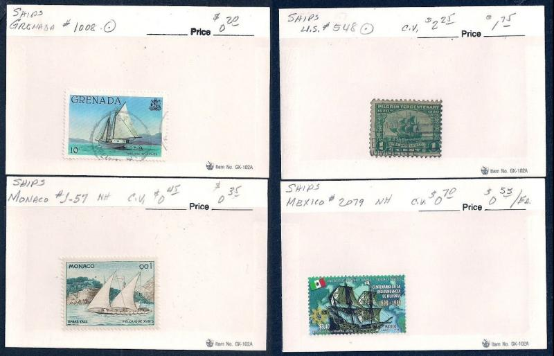 WORLDWIDE Topical Ships (66) Different Sets Mint & Used