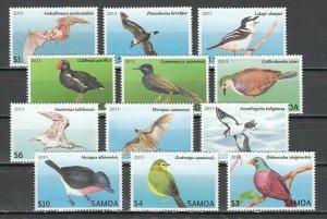 Samoa, 2013 issue. Birds & Bats Definitive issue. ^