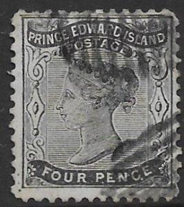 Prince Edward Island 9  1868    4 pence  fine used