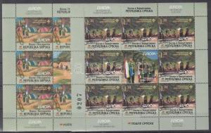 Bosnia-Herzegovina-Serbian stamp Europa CEPT: Scout mini sheet set WS192827