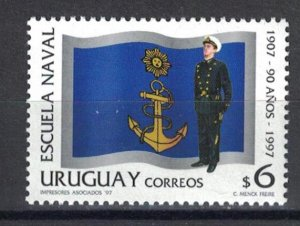 Uruguay 1997 The 90th Anniversary of the Naval Academy  (MNH)  - Education, Mili